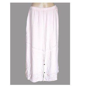 NEW Soft Surrounding Embroidered Pink Maxi Skirt L